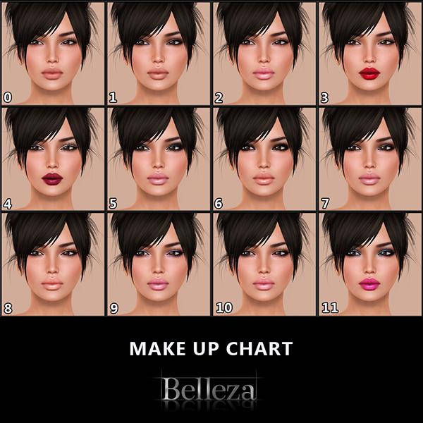 -Belleza- Ava Make Up Chart