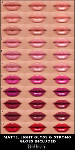 -Belleza- Lip Chart