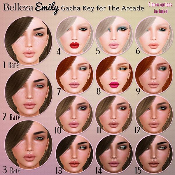 -Belleza- Emily Gacha Key